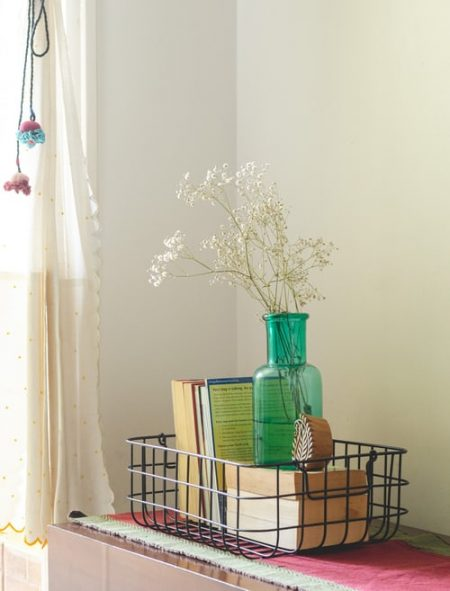 Use-a-basket-for-gathering-clutter