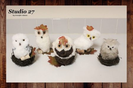 Creating-Fall-Owls-From-Christmas-Tree-Ornaments