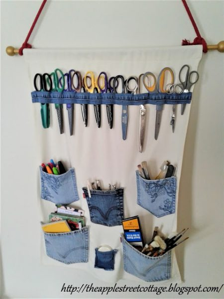Apple-Street-Cottage-Denim-Wall-Hanging-Organize