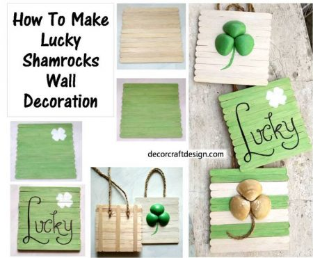 How-to-make-Lucky-Shamrock-Wall-Decoration.