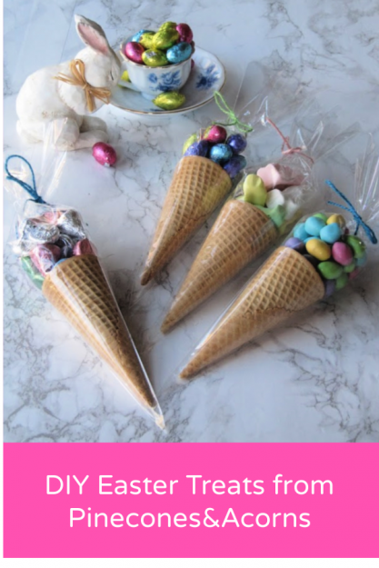 Pine-Easter-rabbit-and-cones-favor