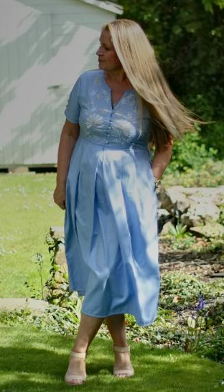 A-Blue-Midi-dress-for-summer