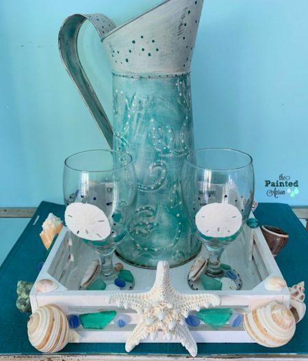 Creating-a-Seaside-Seashell-Beverage-Tray