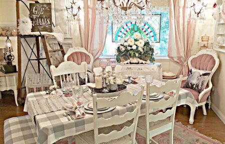 Pennys-Vintage-Treasures-Style-Dining-Room-With-Buffalo-Checks