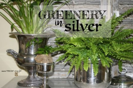 Greenery-In-Silver-Vases-and-Bowls-for-decor